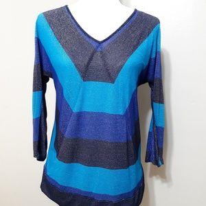 Cable & Gauge super lightweight sweater sz S blue